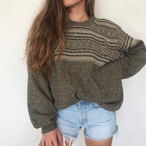 [Vintage] chunky oversized crewneck sweater